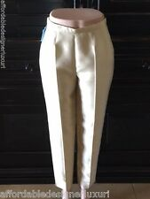 Frascara Silk Blend Ankle Pants in Vanilla, Size 4, Retail $520