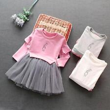 Lively Kid Infant Baby Girl Long Sleeve Tulle Party Pageant Princess Tutu Dress