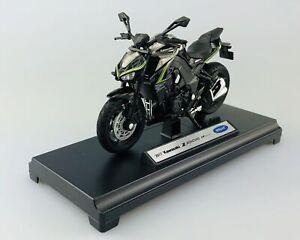 2007 Kawasaki z1000 Vert Welly MOto Modèle 1:18