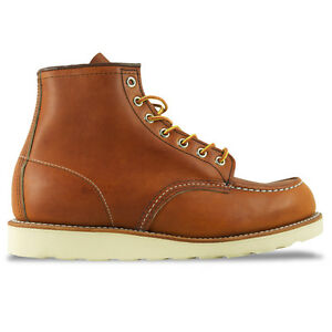 RED WING BOOTS - NEW MOC TOE BOOT - TAN/BROWN/COPPER/NAVY/OLIVE - BNIB
