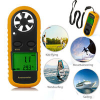 Handheld Digital LCD Anemometer Thermometer  Wind Speed Meter Gauge Air Velocity