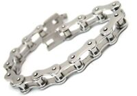 Motorcycle Chain Bracelet Surgical Steel Biker 9 inches NEW
