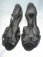 2b1b59aaeee9e3 WOMENS CLARKS Active Air Artisan Leather OPEN TOE STRAP SANDAL SIZE 9 1 2M  84360