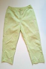 Lilly Pulitzer Women's Lime Green Embroidered  Golfer Golf Crop Capri Pants Sz 4