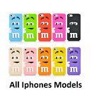 Coque M&M Cartoon 3D M&M's Chocolate Beans Case All Iphone 4 5 5c 6 6s + 7 7+
