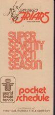 1977 San Diego Friars Tennis Schedule jhhp
