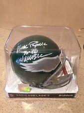 """Vince Papale Philadelphia Eagles """"Invinceable"""" NFL autographed mini helmet"""