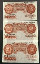 More details for three p s beale ten shilling 10/- notes (1950) - o48z 650652/3/4 consecutive