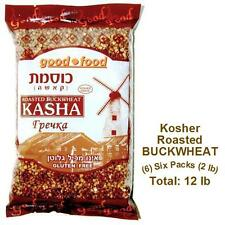 Kosher Roasted BUCKWHEAT groats - (6) Six 2 LB Packs - Imported from Israel