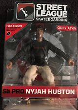 Brand new Rare NYJAH HUSTON Street League Skateboarding figure with DVD