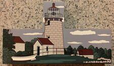 Mohegan Island Lighthouse East Coast Lighthouse Series Wooden Shelf Sitter