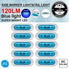 10 Pcs SMD 4 LED Blue Tail Light 12V Truck RV Trailer Clearance Lamp Side Marker