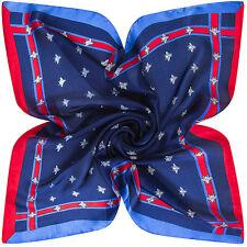 60X60cm Bee blue Women Multipurpose Silk-Satin Square Scarves scarf Summer new