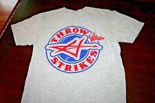"CJ Wilson ""Throw Strikes"" Gray Small Short Sleeve Tee Shirt/Baseball/Preowned"