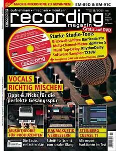 Vocals richtig mischen mit Tools auf DVD in recording magazin