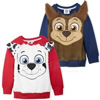 Paw Patrol Boys Warm Jumper Sweatshirt Fur Sweater Chase Character 2-6 Years