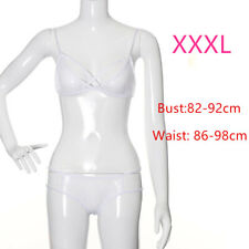Plus Size Sleepwear Nightwear Sexy Lingerie Set Eyelash Lace Bra+G-string