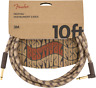 Fender Festival Instrument Cable, Pure Hemp, Right-Angle, Brown Stripe, 10' ft