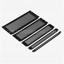 """3U Altura - 19"""" Montaje en Rack ventilados panel en blanco-acero revestidos con polvo negro"""