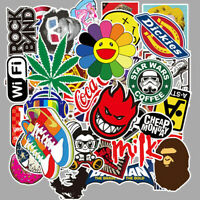 50pcs Stickers Bomb Vinyl Skateboard Guitar Luggage Pack Tide Brand Logo Decals