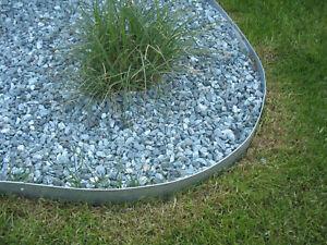 Rasenkanten H175 mm  Einzelteile verzinkt  Metall Rasenkanten 1180 mm
