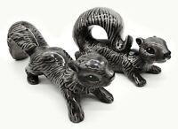 Vintage Ceramic Pair Of Squirrel Running Grey Figurine Decoration