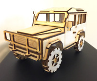 Land Rover Defender 90 3D Puzzle Birch Ply Wood Laser Craft, Model, Collectible