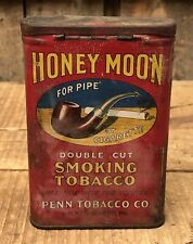 Vintage Early HONEY MOON Penn Tobacco For Pipe Cigarette Smoke Tin Uncleaned