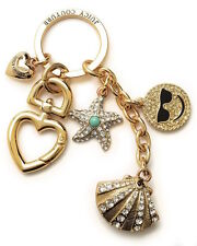 Juicy Couture Key Ring fob Purse Charm Pave Shell Starfish Summer Fun NEW