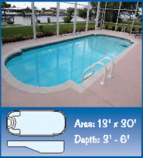 Inground Fiberglass Swimming Pools 13x30x6 $12,600 Save $