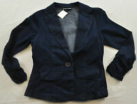 women's Stacey Sunners denim jacket size small one button front collar cotton