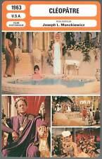 CLEOPATRE - Taylor,Burton,Mankiewicz (Fiche Cinéma) 1963 - Cleopatra