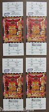4 full tickets - 1996/97 Atlanta Hawks NBA Playoffs (Round 2; Home Game 4) NM