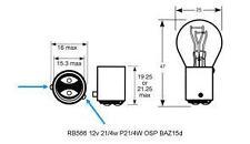 NEW  2 X STOP BRAKE & TAIL LIGHT BULBS 567 OFF SET PINS 24 VOLT 21/4 WATT