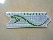 INTERLOCKING BORDER TILE PACK OF 20 BLUE/GREEN/GREY