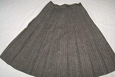 Vintage Tweed Wool Skirt Pleated Barry Ashley Boston