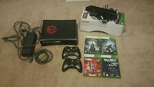 Xbox 360 Elite 120GB + Kinect, 2 controllers, 4 games, remote (WORKING)