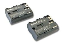 2x Batterie 1900mAh pour CANON EOS D10 D20 D30 D40 D60 300D  Accu