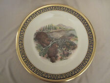 BEAVERS collector plate 1977 LENOX Woodland Wildlife BOEHM