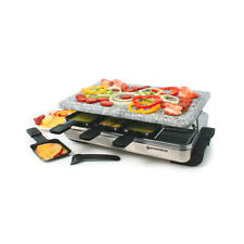 Swissmar Stelvio 8 Person Stone Raclette Party Grill – Stainless (KF-77081)