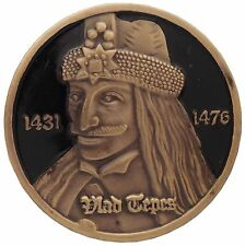 Medal / Coin with Vlad the Impaler Tepes, Count Dracula, Portrait, Transylvania