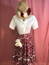 MARY MARY Miss Muffet  COSTUME size 6 M little lamb top skirt mop cap