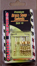 1 Pack Of 7 Gander Mountain Guide Series #10 Premium Brass Snap Swivels +A