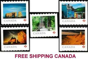"2018 Canada 🍁 FROM FAR and WIDE - SET OF 5 ""P"" Booklet Stamps 🍁 MNH"