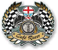 D'ORO STEMMA CAFE RACER & inglese bandiera BOBBER TON SUPERIORE
