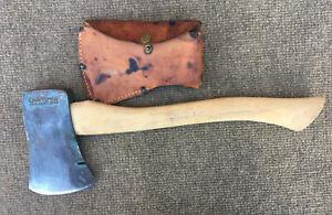 Vintage Craftsman Single Bit Belt Hatchet Axe w/ Sheath,  Reg. U.S. Pat. Off.