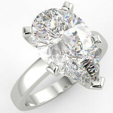 2.33 Ct Pear Cut SI1/G Solitaire Diamond Engagement Ring 14K White Gold