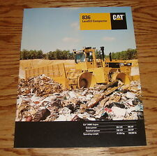 Original 1996 Caterpillar 836 Landfill Compactor Sales Brochure 96 Cat