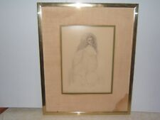 """Werner Wildner Original Pencil on Paper """"Mother of War""""  Pencil on Paper framed"""