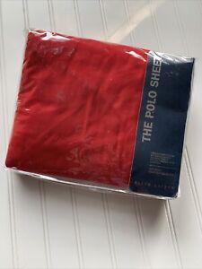 Ralph Lauren Polo Sheet REGATTA Red King Deep Fitted Sheet NIP